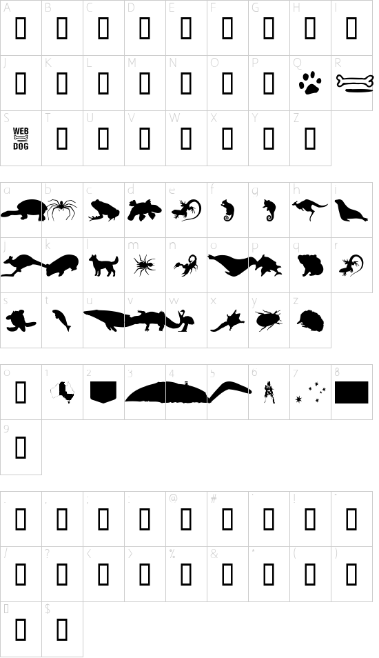 mapa znak